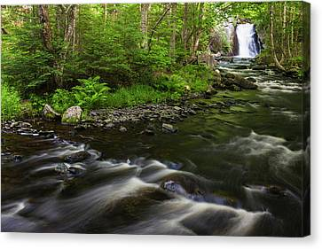 Maine Mountains Canvas Print - Cold Stream Falls In Maine's Northern by Jerry and Marcy Monkman