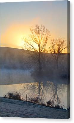 Cold Sunrise Canvas Print by Alexey Stiop