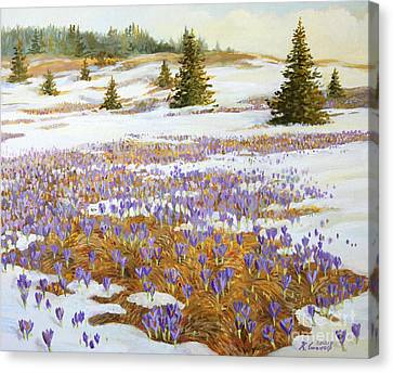 Cold Weather Is Going Away Canvas Print by Kiril Stanchev