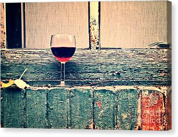 Cold Wine Canvas Print by Delphimages Photo Creations