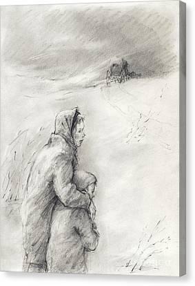 Cold Winter Canvas Print by Youri Ivanov