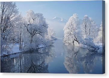 Coldest Morning Canvas Print