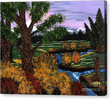 Coldest Mountain Brook Canvas Print by Barbara Griffin