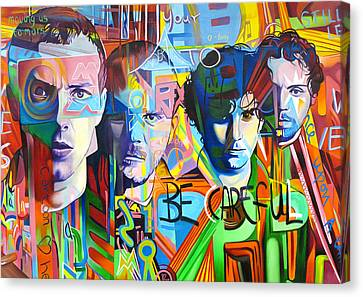Famous Musician Canvas Print - Coldplay by Joshua Morton