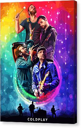 Coldplay Canvas Print - Coldplay Mylo Xyloto by FHT Designs