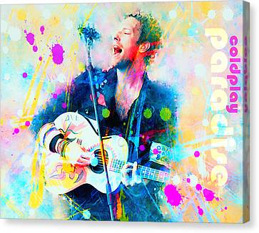 Coldplay Paradise Canvas Print by Rosalina Atanasova