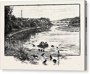 Toll House Canvas Print - Coldstream Bridge, From Up-stream. Coldstream Bridge by English School