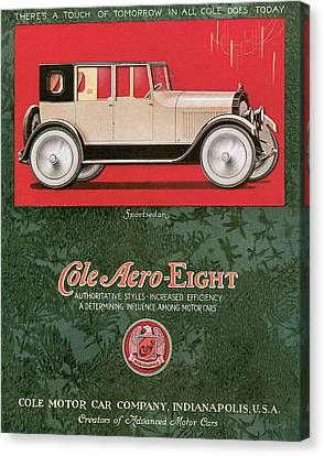 American Car Canvas Print - Cole Aero Eight Vintage Poster by World Art Prints And Designs