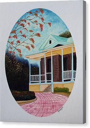 Colegio De Arquitectos En Pr Canvas Print by Gloria E Barreto-Rodriguez