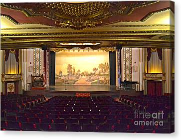 Canvas Print featuring the photograph Coleman Theatre by Utopia Concepts
