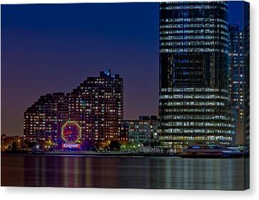 Exchange Place Canvas Print - Colgate Clock Exchange Place  by Susan Candelario