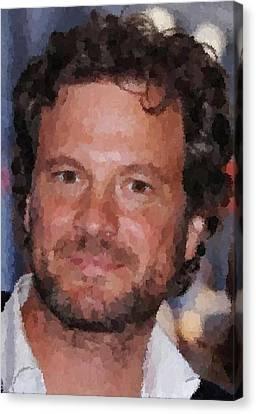 Colin Firth Portrait Canvas Print