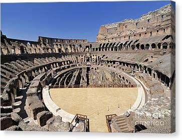 Coliseum . Rome Canvas Print by Bernard Jaubert