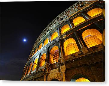 Coliseum Canvas Print by Aaron Bedell