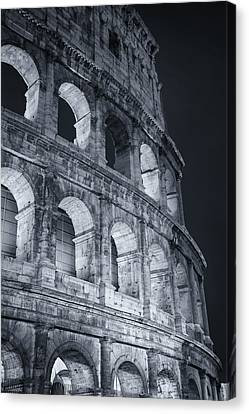 Coliseum Canvas Print - Colosseum Before Dawn by Joan Carroll