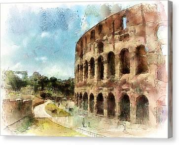 Coliseum Rome Canvas Print