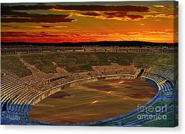 Coliseum Sunset Canvas Print