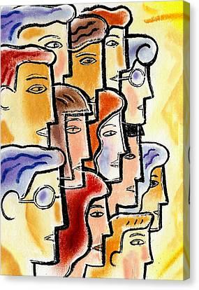 Collaboration Canvas Print by Leon Zernitsky