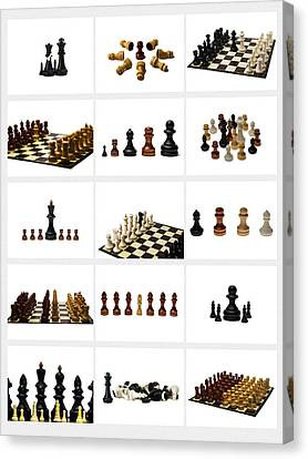 Collage Chess Stories 1 - Featured 3 Canvas Print by Alexander Senin