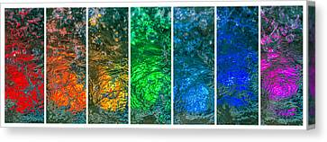 Collage Liquid Rainbow 4 - Featured 3 Canvas Print