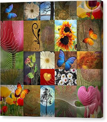 Collage Of Happiness 2 Canvas Print by Mark Ashkenazi