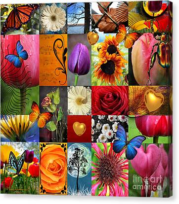 Collage Of Happiness  Canvas Print