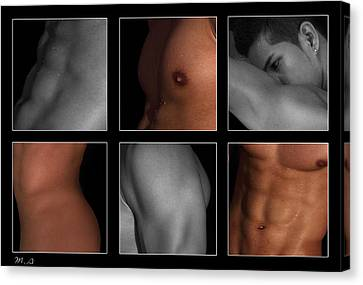 Collage Of Men  4 Canvas Print by Mark Ashkenazi