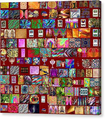 Hinduism Canvas Print - Collage Of Navin Joshi Art From Google Search by Navin Joshi