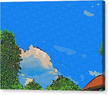 Collage Painted Cloud Cover Canvas Print