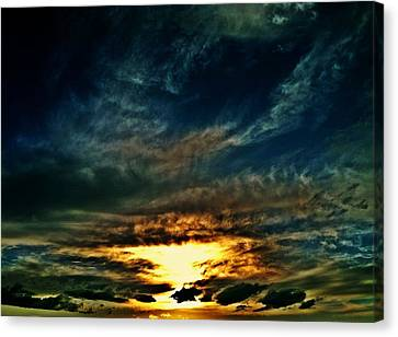 Collapsing Sunset Canvas Print