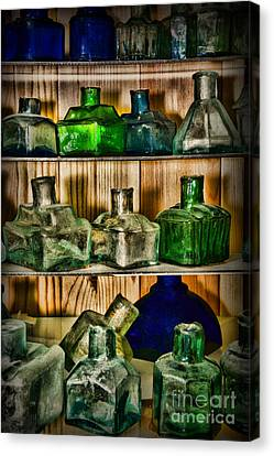 Collection - Ink Wells Canvas Print
