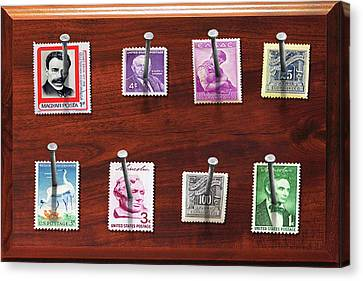 Collector - Stamp Collector - My Stamp Collection Canvas Print by Mike Savad
