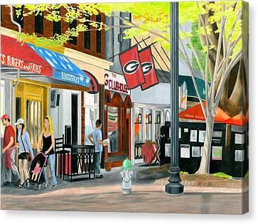 College Avenue Canvas Print by Carmen Kraus