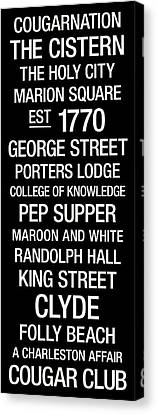 College Of Charleston College Town Wall Art Canvas Print by Replay Photos