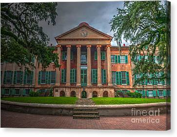 College Of Charleston Randolph Hall Canvas Print by Dale Powell