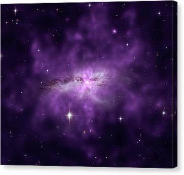 Merged Canvas Print - Colliding Spiral Galaxies by Nasa