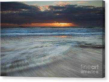 Colliding Tides Canvas Print by Mike  Dawson