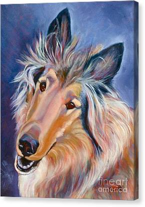Collie Caper Canvas Print