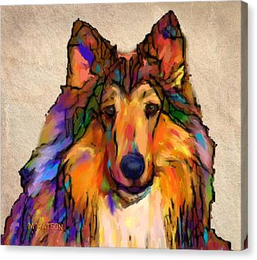 Scottish Dog Canvas Print - Collie by Marlene Watson