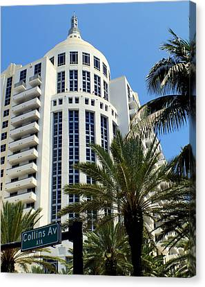 Collins Ave Canvas Print by Karen Wiles
