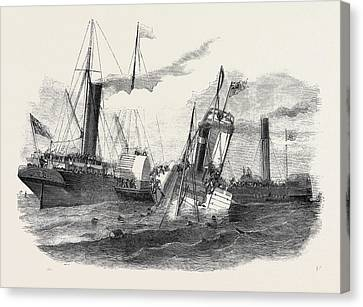 Collision Between The Duchess Of Kent And The Ravensbourne Canvas Print by English School