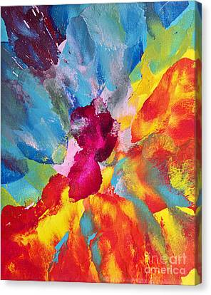 Collision Of Color Canvas Print by Pattie Calfy