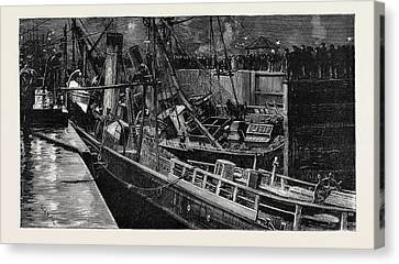 Collision Of The S.s Canvas Print by English School