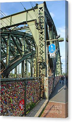 Cologne - Hohenzollern Bridge Canvas Print by Gregory Dyer