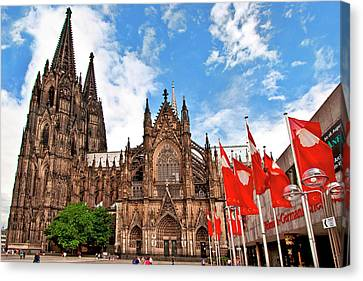 Gothic Germany Canvas Print - Cologne Cathedral, Cologne, Germany by Miva Stock