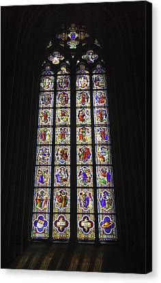 Cologne Cathedral Stained Glass Life Of Christ Canvas Print