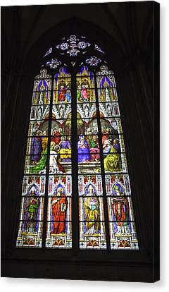 Pentecost Canvas Print - Cologne Cathedral Stained Glass Window Of Pentecost by Teresa Mucha