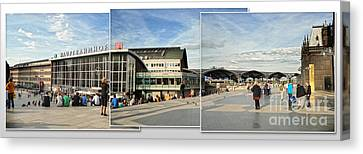 Cologne Central Train Station - Koln Hauptbahnhof - 01 Canvas Print by Gregory Dyer
