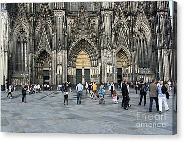 Cologne Germany - High Cathedral Of St. Peter - 17 Canvas Print by Gregory Dyer