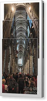 Cologne Germany - High Cathedral Of St. Peter - 01 Canvas Print by Gregory Dyer